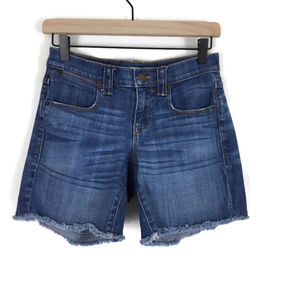 J. Crew Factory Cutoff Denim Short Medium Wash